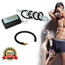 Safe Electro Shock Penis Extender Enlargement Enhancer Rings + Electric Therapy