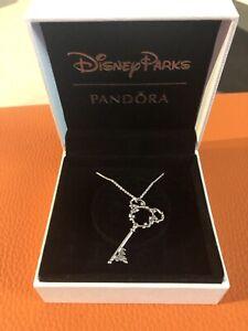 Disney Parks Exclusive Pandora Castle Fantasyland Key Mickey Necklace Charm
