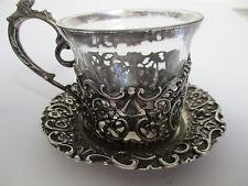 Gedeck 3-teilig 800 Silber Halbmond Krone filigran gearbeitet mit Putten