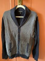 Men's Banana Republic Navy Blue Cardigan Sweater (Size Medium)