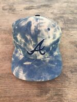 Atlanta Braves American Needle Strapback Hat Pre Owned Rare Jean Wash SEE NICE