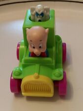 Vintage 1992 Porky's Porky Pig Warner Bros Haunted Ghost vehicle car toy truck
