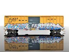 NSE Special Run 16-30 50' Rib Side Box Car WEATHERED/Graffiti Rail Box #32223