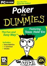 Poker For Dummies (PC DVD) PC 100% Brand New