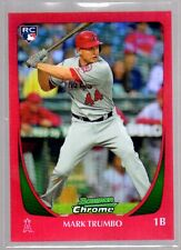 2011 Bowman Chrome #173 Mark Trumbo (RC Red Refractors/5) Angels Rookie