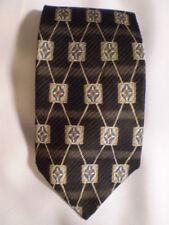 "Hand Made XMI Nordstrom 325 Tie Black Gray Stripe 60"""
