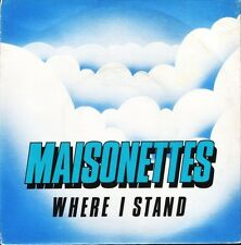 """MAISONETTES where i stand/is that what friends are for RSG2 uk 1983 7"""" PS EX/EX"""