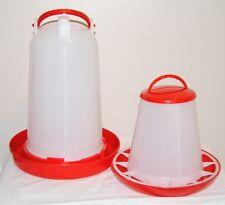 Red Base Poultry 3kg feeder & 3lt Drinker Chickens hens ducks etc