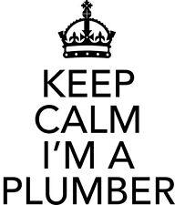 Keep Calm Je Suis Un Plombier Funny Novelty Voiture/Van/Fenêtre Vinyle Autocollant-Petit