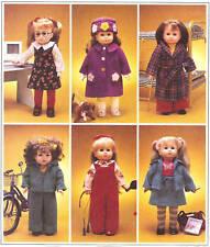 18in doll Clothes PATTERN McCalls 2506 Gotz dog jumper tights hat coat jacket