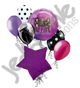 7 pc Purple Bratz Happy Birthday Balloon Bouquet Party Decoration Yasmin Chloe