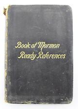 1898 Book Or Mormon Ready References Black Softcover Mormon Book