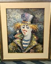 Original Oil Painting Of A Clown