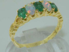 Emerald Eternity Yellow Gold Oval Fine Gemstone Rings