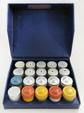 20 Vintage Kodak Metal Film Canisters in Miniature Negatives Case