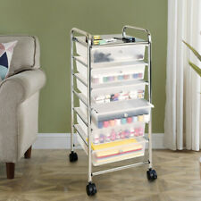 Rolling Trolley Cart 6 Shelves Wheel Beauty Salon Spa Storage Equipment Bathroom