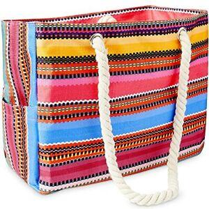 Odyseaco Canvas Beach Bags for Women - Baja Bohemian Beach Bag Canvas Bags