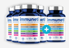 5 bottles Immuneti Nutrition Inc Advanced Defense Capsule 60 Count-With Vitamins