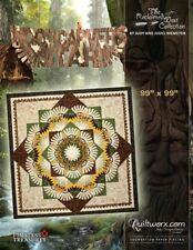 "WOODCARVER'S STAR QUILT PATTERN BY JUDY NIEMEYER - QUILTWORX - 99"" X 99"""