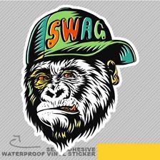 Swag monkey Cap moderne Street Style Vinyle Sticker Autocollant Fenêtre Voiture Van Vélo 2774