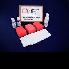 Leder Reiniger + Leder Pflege + Leder Aufbereitung Set für Auto Glattleder