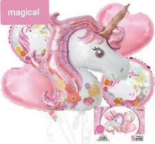 5 Magical Unicorn Foil Balloons Baby Shower Birthday Party supplies decorations