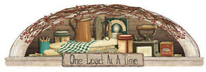 """""""One Load At A Time"""" Laundry Sign Arch Art Accent Wallpaper Mural  MP4938M"""