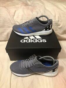 Adidas Mens Adizero Boston 8 [EH3565] Gray Blue Running Shoes