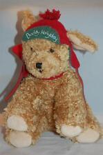 Buddy Hollyday Hallmark Bunnies By The Bay Brown Puppy Dog Red Green Hat Plush