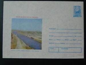 bridge canal postal stationery Romania 79564