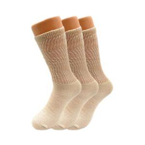 Mid Calf Crew Socks for Women Cotton Cushioned Running Socks 3 Pairs