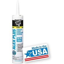 DAP 18152 Caulk, 10.1 oz, White ALL PURPOSE ACRYLIC LATEX CAULK PLUS SILICONE