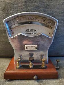 Vtg  Ziegler Electronic Co. Volt-Ammeter Direct Reading Boston Massachusetts.