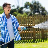 Deluxe 25 50 75 Feet Expandable Flexible Garden Water Hose Pipe NO Spray Nozzle