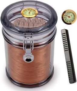 Scotte Acrylic Humidor Jar With Humidifier,Cigar Case Humidor,Rectangle Humidifi