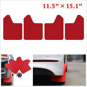 4x Universal Mud Flaps For Car Truck Moulding Mudflaps Mudguards Splash Guards