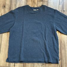 LL Bean Mens 100% Cotton Crew Neck Sweater Gray Size XL