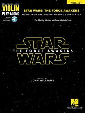 Star Wars: The Force Awakens Violin Play-Along Book and Audio New 000157648