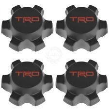 OEM Wheel Center Cap Black w/ Red TRD Logo Set of 4 for Tacoma FJ Cruiser New
