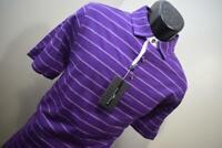 39969 New Bobby Jones 1930 Performance Short Sleeve Purple Golf Polo Medium