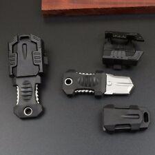 Mini Stainless Steel Knife Webbing Buckle Self Defence Survival Tool & Black