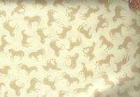 Running Free horsesExclusively Quilters cream fabric