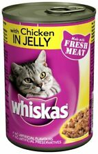 4 x 390g Whiskas 1+ Adult Wet Cat Food Tin Chiken in Jelly Super Fast Delivery
