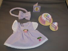 FISHER PRICE Briarberry Briarwear Purple birthday dress headband cake invite set