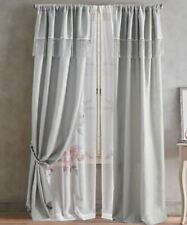 Roxy Solid 84-Inch Rod Pocket Window Curtain Panel in Dove Grey