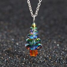 Creative Christmas Tree Pendant Necklace Women Girls Cute Fashion Jewelry Gifts