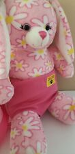 """Build A Bear Workshop EASTER SPRING BUNNY Pink w/ Daisy 16"""" Plush Toy Dress"""