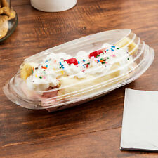 Set of 32 Banana Split Boat Bowls and Lids 8 oz. & 12 oz Containers