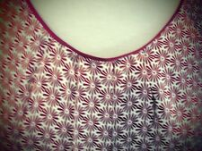 NEXT BURGUNDY SHIRT BLOUSE SIZE 20 FLOWERS TOP CHEST 47""