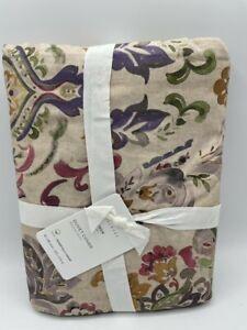 New Pottery Barn Ivana print Cotton/Linen Full/Queen Duvet Cover